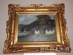 Neogrády László (1896-1962) Falusi részlet 30x40 cm