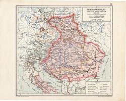 Magyarország térkép 1342 - 1382, kiadva 1913, eredeti, teljes atlasz, Kogutowicz Manó, történelmi