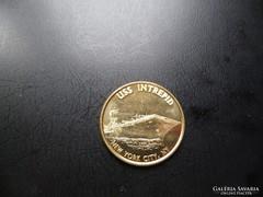 USS Intrepid  New York City aranyozott érme!(5)