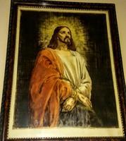 AZARY PRIHODA ISTVÁN: JÉZUS RITKA SZINEZETT RÉZKARC