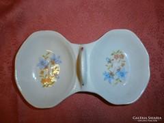 Antik asztali porcelán sótartó