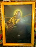 Jézus nyomat nagyméretű gyönyörű keretben