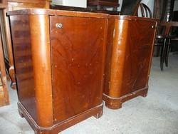 2 db antik Art Deco  fiókos éjjeliszekrény eladó jó állapotban