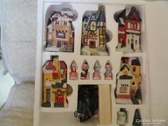 Karácsonyi világitós kerámia falu