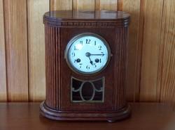 Antik francia felet ütős asztali óra, hibátlan, működő