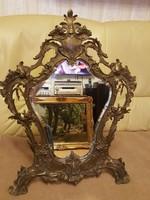 Bronz asztali tükör