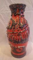 Zsűrizett retro iparművész kerámia váza 30,5 cm