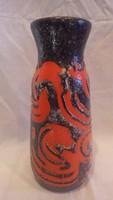 Zsűrizett retro iparművész kerámia váza 26 cm