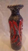 Zsűrizett retro iparművész kerámia váza 22,5 cm