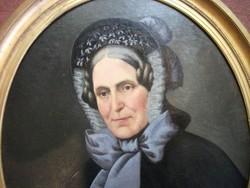 Antik biedermeier portre