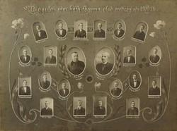 0O488 Régi tablókép gyulai katolikus gimn. 1910-11