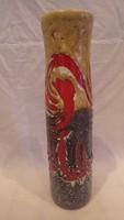 Zsűrizett retro iparművész kerámia váza 31,5 cm