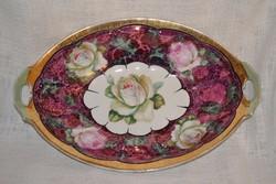 Csoda szép rózsás, lüszteres asztal közép, kínáló  ( DBZ 007 )