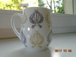 Sigvard Bernadotte-THOMAS-Arany-fekete modern hagymamintás tejszínes kiöntő