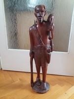 Mahagóni szobrok (2 db)