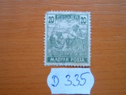 20 FILLÉR 1919 ARATÓ MAGYAR POSTA D335