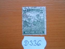 20 FILLÉR 1919 ARATÓ MAGYAR POSTA D336