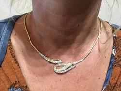 14 karátos köves arany nyakék, nyaklánc