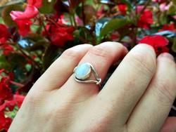 Egyedi tervezésű valódi holdkő 925 ezüst gyűrű