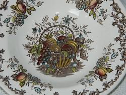 Angol porcelán Royal fruits&flower kollekció, tányér  2 db