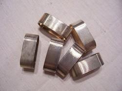 Ezüstözött art deco szalvétagyűrűk /silver plated/, 6 db.
