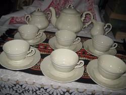 Zsolnay   teás  ,tört fehér