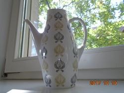 Sigvard Bernadotte-THOMAS-Arany-fekete modern hagymamintás magas tea kiöntő