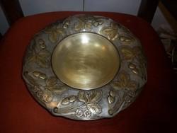Antik ezüstözött réz kínáló asztalközép