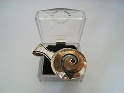 Hatalmas iparművész bicolor ezüst medál gránáttal