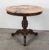 Empire stílusú márványlapos asztal