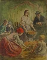 0O393 Révész Imre : Kukoricahántás