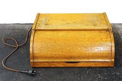 0O411 Régi retro lemezjátszó fa dobozban