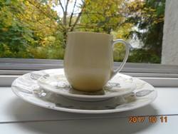Sigvard Bernadotte-THOMAS-Arany-fekete modern hagymamintás reggeliző készlet