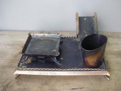Antik réz asztali dohányzó készlet
