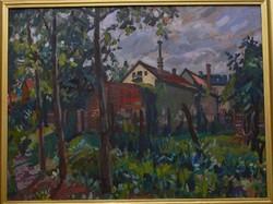 Orosz Gellért: Kertalja című festmény
