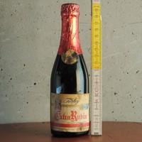 """""""Törley Extra Rubin"""" félédes vörös pezsgő címkés pezsgősüveg"""