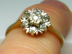 Gyönyörű antik gyémánt gyűrű angol jelzés arany 0,10 ct