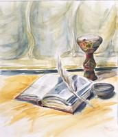 Eredeti Akvarell csendélet!