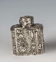 Ezüst angol szecessziós teafű tartó