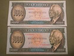 Bartók 1000 forint 1996-os január E,F, ritka , szép állapotban!