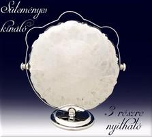 Angol ezüstözött süteményes kínáló