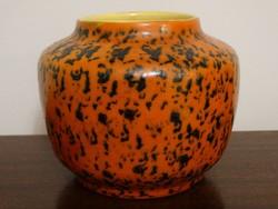 Tófej kerámia váza, kaspóváza