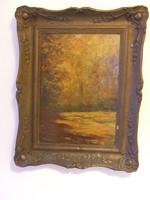 Radnay József -Őszi erdő festmény