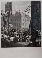 William Hogarth (1697-1764): Beer Street and Gin Lane (2db. acélmetszet)
