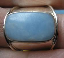 925 ezüst gyűrű, 18,7/58,7 mm angelit drágakő