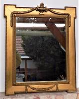 Kb 100 éves Antik Empír tükör laparanyozott részekkel.