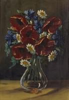 0O432 Ismeretlen festő : Pipacsos virágcsendélet