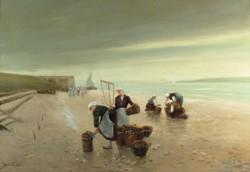 Gerő E. jelzéssel : Holland tengerparti jelenet