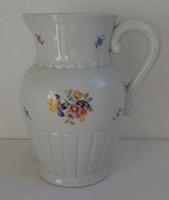 Kispesti porcelán kancsó virágos mintával kitűnő állapotban