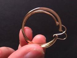 Arany karika fülbevaló (58)